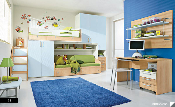 Blue Kid's Bed Rooms