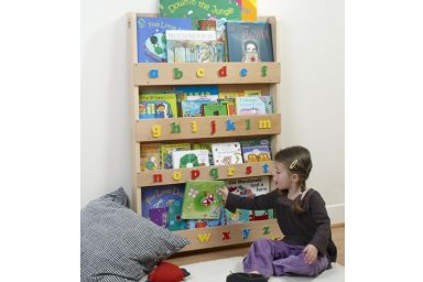 Children Bookcase in Natura Finish with Lowercase Letters