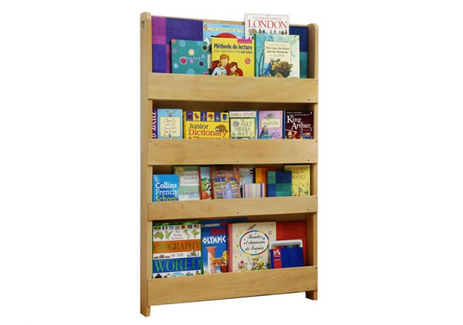 Children Bookcase in Natural Finish With no Letters