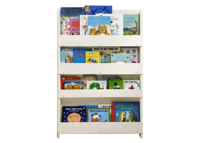 Children Bookcase in Whitewash Finish with no letters