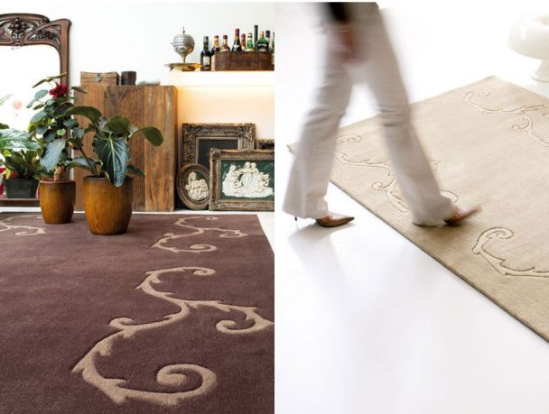 Contemporary Brown and Intricate Rugs from Dhesja