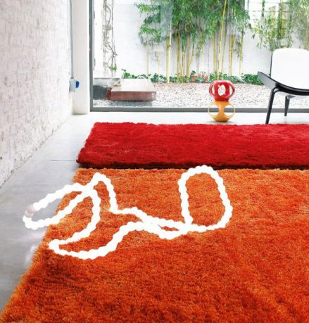Contemporary Orenge Rugs from Dhesja