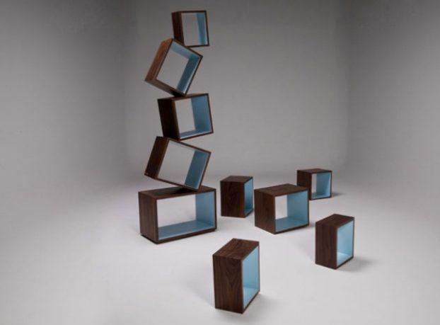 Equilibrium Bookcase Malagana Design Blue Hue