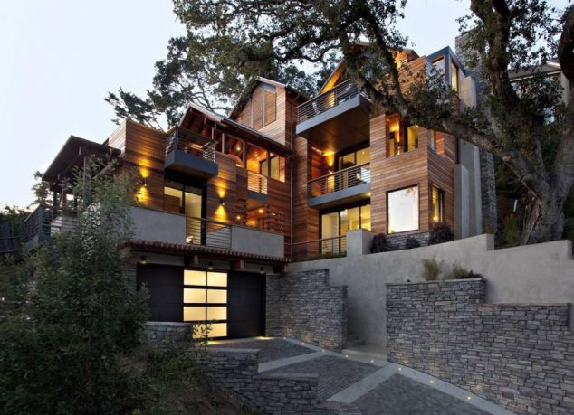 Hillside House Combination Traditional With Modern Style