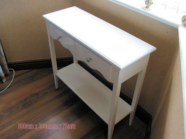 Medium White Table With Doble Rack