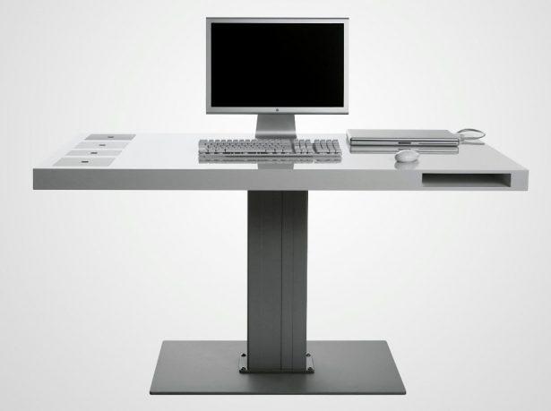 Milk Wireless Computer Desk