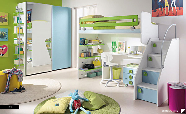 Office Style Kid's Bed Rooms