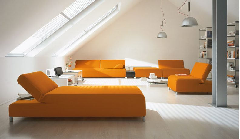 Orange Sofa Sets by COR
