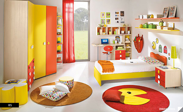 Pac Man Kid's Bed Rooms