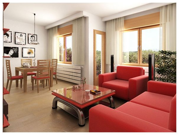 Red Sofa Sets