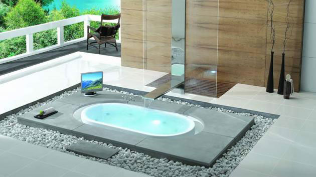 Rounded Overflow Bathtubs from Käsch German