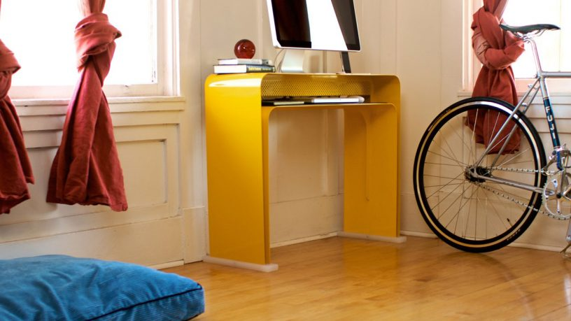 Yellow Minimalist Computer Desk