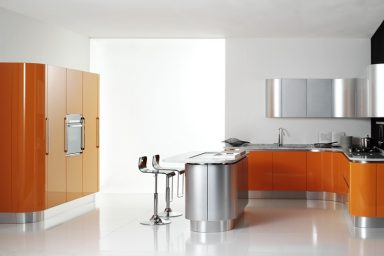Awesome Modern Orange Kitchen Design