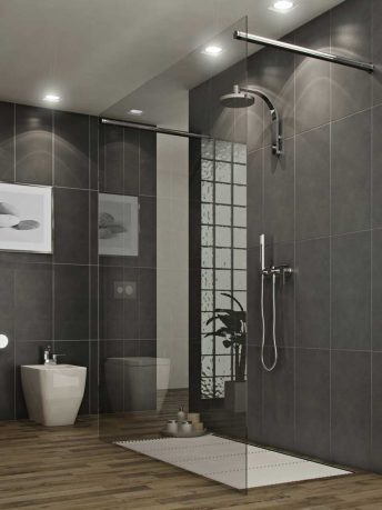 Bathroom Simple and Modern Style Glass Shower Stall