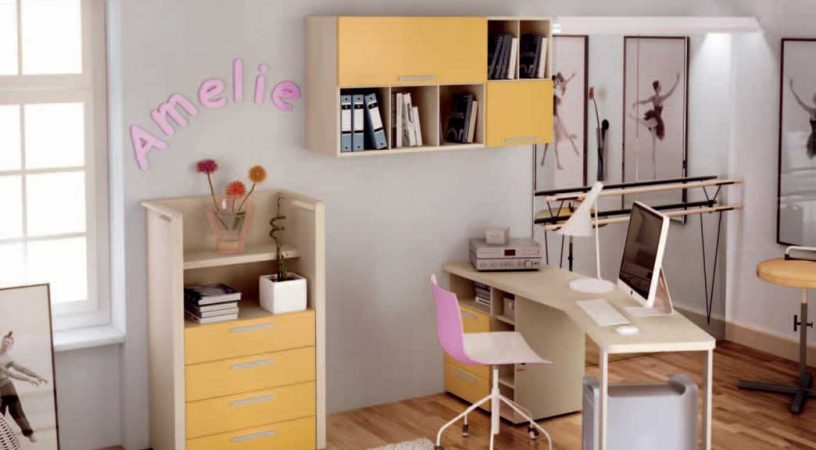 Beautiful Orange Dancer Kids Room Design Ideas