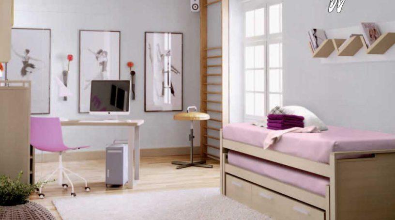 Beautiful Purple Dancer Kids Room Design Ideas