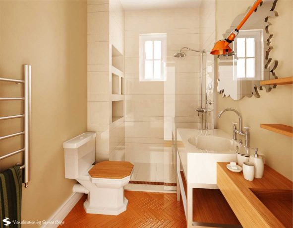 Beautiful Wooden Furniture Bathroom by Semsa
