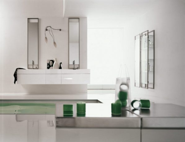 Best Green and White Bathroom