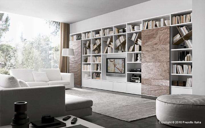 Built in Slate Entertainment Center Italia Living Room