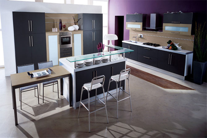 Contemporary Purple Kitchen Inspiration