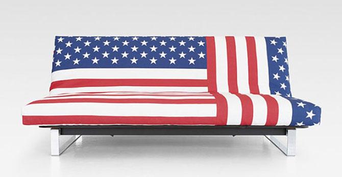 Cool American Flag Sofa Cover Design