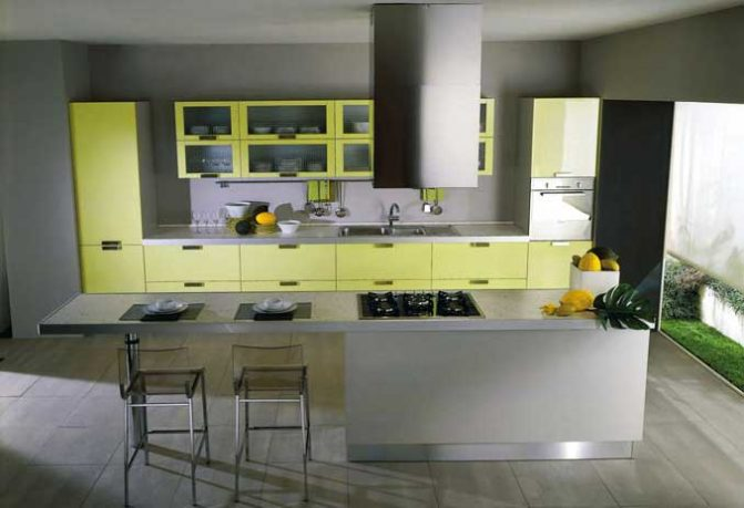 Cool Piramide Yellow Kitchen Design