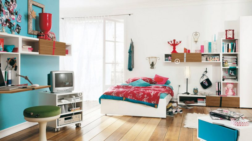 Cool and Blue Trendy Teen Bedroom Design Ideas