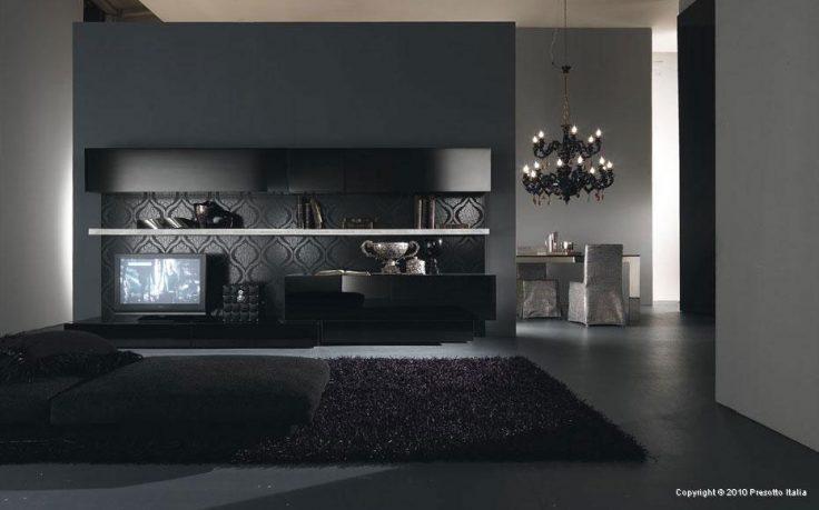 Dark Modern Living Space Italia Living Room