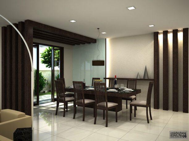 Elegant White Themed Dining Room Design Ideas