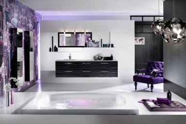 Heavenly Purple Bathroom from Delpha