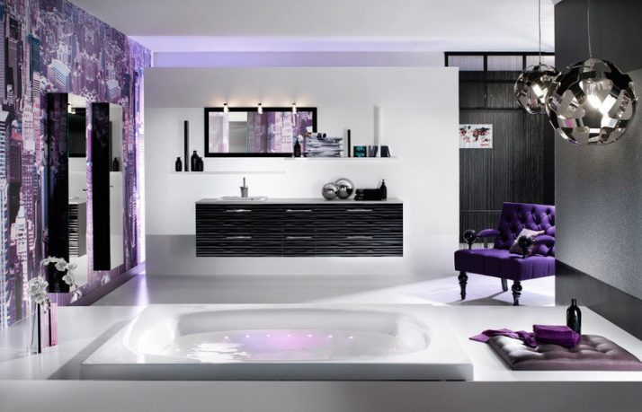 Heavenly Purple Bathroom from Delpha