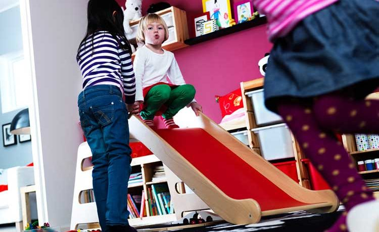 Ikea Kids Badroom With Playground Slide My Home Deco Mag