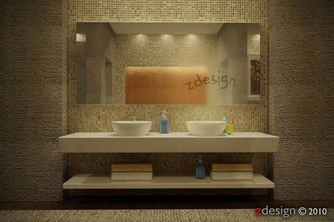 Interior Bathroom Wall by Zorro Design