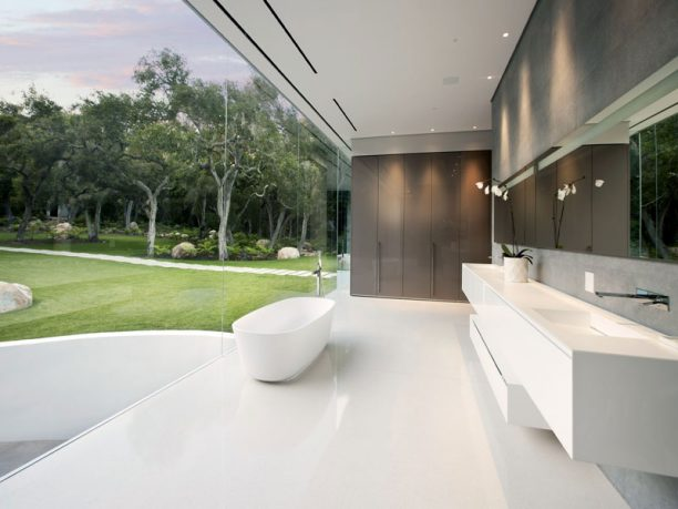 Luxury And Cool Bathroom Design Glass Pavilion