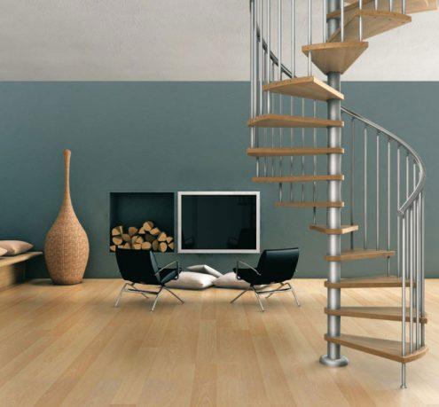 Minimalist Spiral Stairs Design Ideas