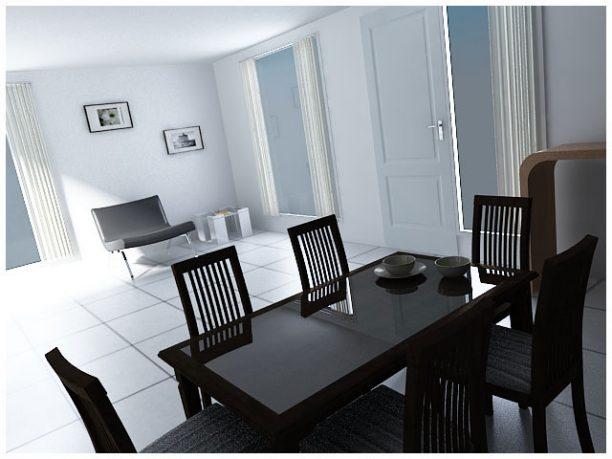 Minimalist White Themed Dining Room Design Ideas
