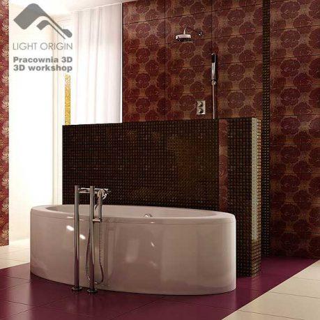 Modern Bath Textured Brown Bathwall