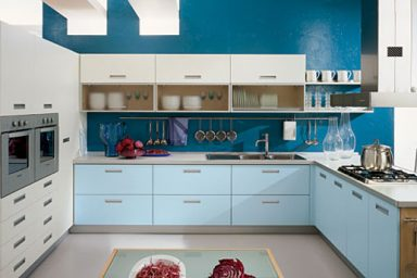 Modern Blue and White Kitchen Design