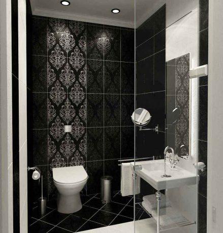 Modern Classic Style Bathroom Black and White Tile Design Ideas
