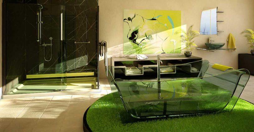 Modern Green Bathroom by Flavius