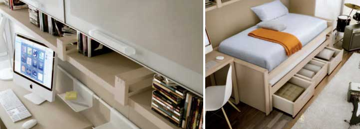 Modern Mac Desk Bed Storage