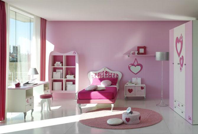 Modern Pink Bedroom For Teenager