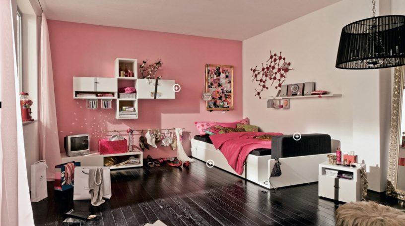 Pinky Trendy Teen Bedroom