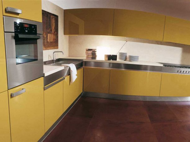 Rossana Simple Yellow Kitchen