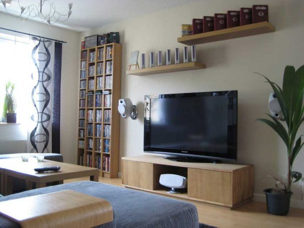 Shining Living Room Decor Tv Setup