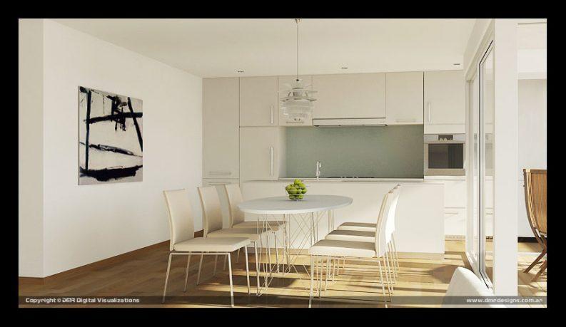 Shining White Themed Dining Room Design Ideas