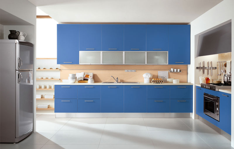 Simple Blue Modular Kitchen Inspirations My Home Deco Mag