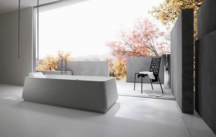 Simple Modern Bathroom Semi Outdor from Rexa