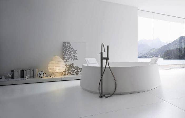 Simple Modern Circle Bathroom Design from Rexa