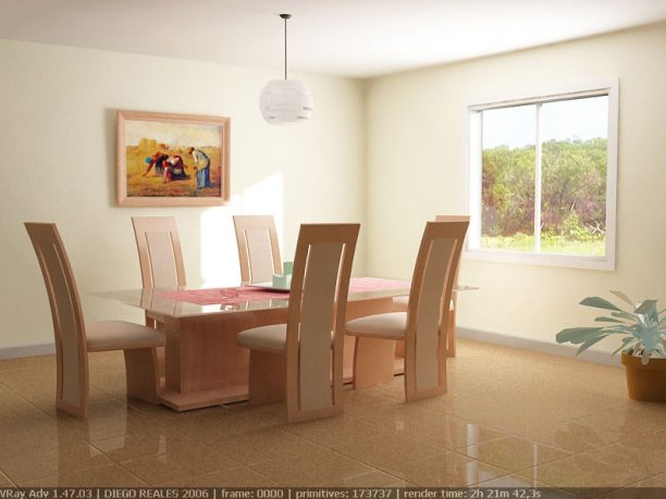 Simple White Themed Dining Room Design Ideas